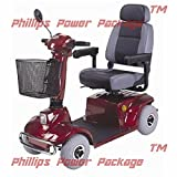 CTM - HS-580 - Mid-Range Scooter - 4-Wheel - Burgundy - PHILLIPS POWER PACKAGE TM - TO $500 VALUE