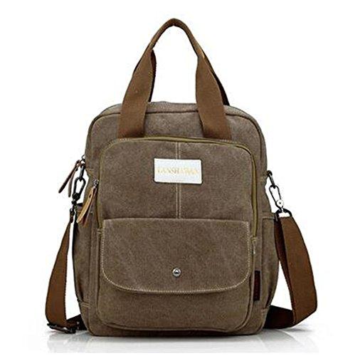Limit Vintage Europa und Amerika Leinwand Handtasche in Frauen Schulter Umhängetasche casual Backpack Travel Rucksack Laptop-Tasche armee-grün t8mMGfW