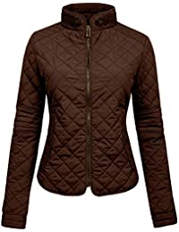 Amazon.com: Brown - Quilted Lightweight Jackets / Coats, Jackets ...