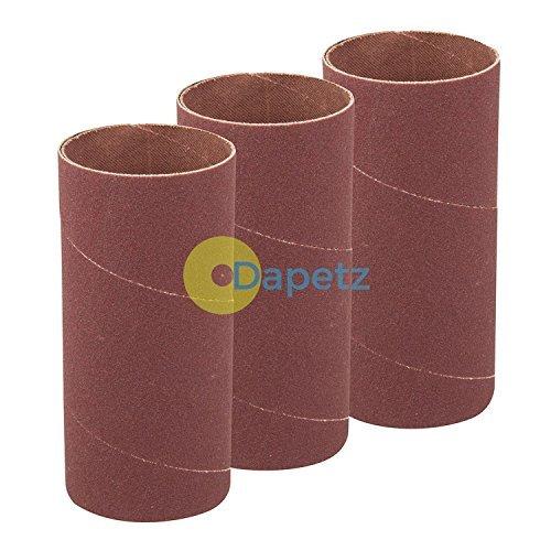 Daptez ® 140mm Bobbin Sleeves 3Pk - 51mm 60 Grit Sanding Curves Bends Spindle DIY Dapetz