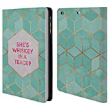 Official Elisabeth Fredriksson She's Whiskey In A Teacup Typography Leather Book Wallet Case Cover For Apple iPad mini 4