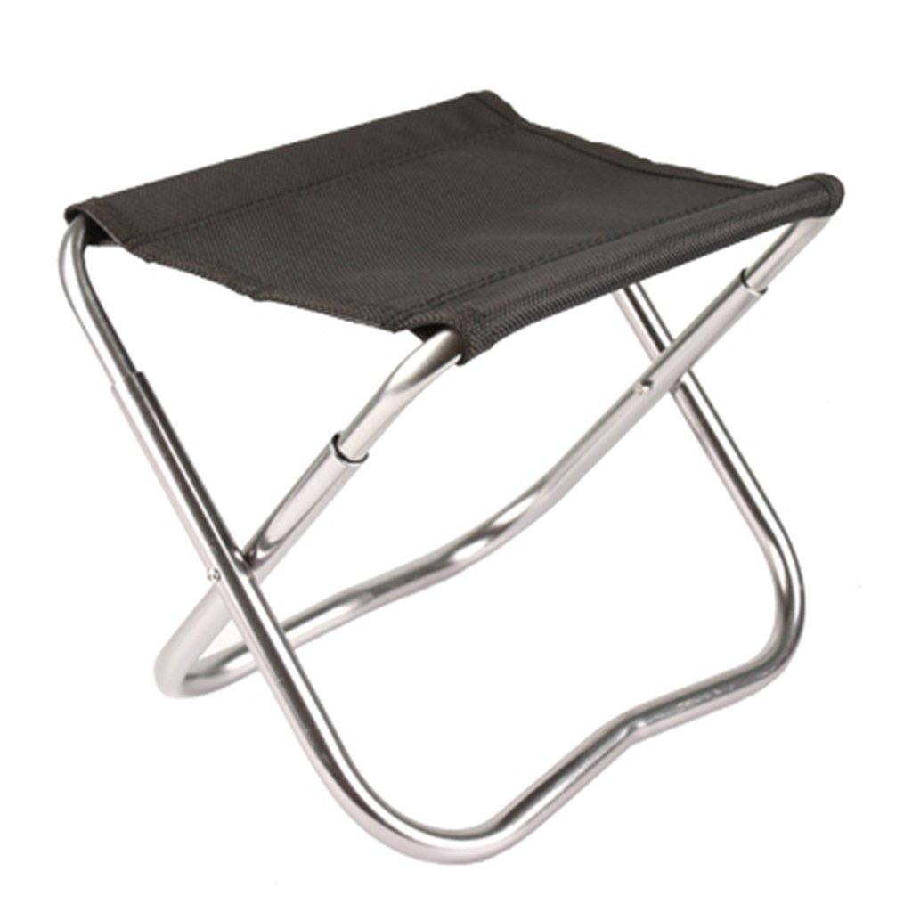 Anna Kletterstuhl Outdoor Freizeit Klappstuhl Strand Stuhl Fischen Stuhl Direktor Canvas Stuhl Komfortable Rest Stuhl Farbe Optional (Farbe : Schwarz)