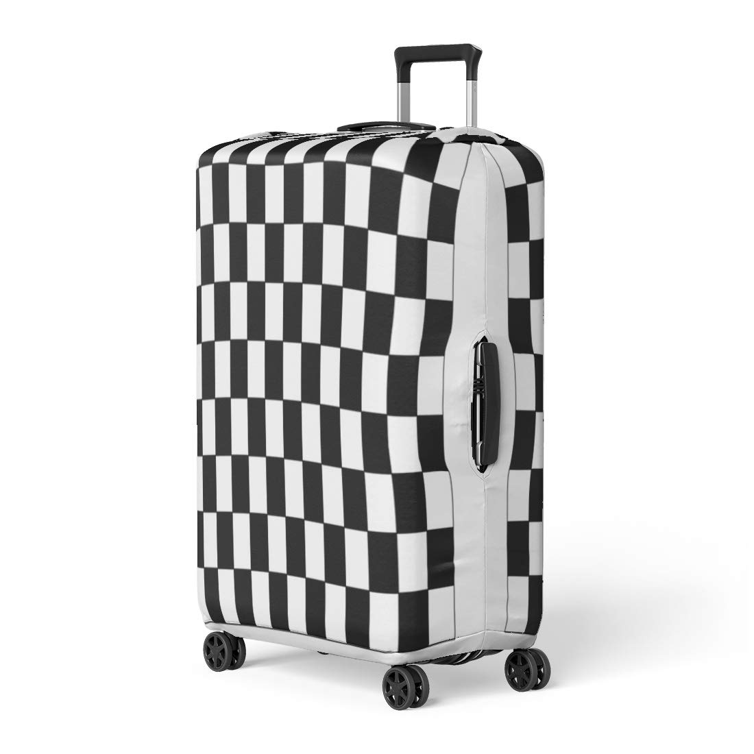 0597d10b7db1 Amazon.com: Pinbeam Luggage Cover Race Checkered Flag Racing White ...