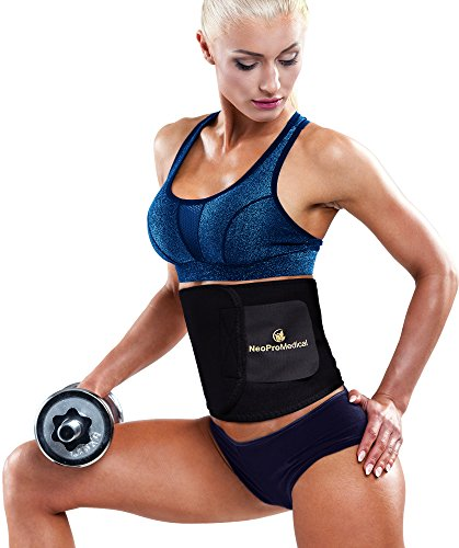 Neopromedical - Waist Trimmer Belt - Worth Loss Wrap - Stomach Fat Burner - Low Back and Lumbar Support with Sauna Suit Effect - Best Abdominal Trainer
