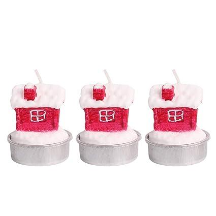 Immagini Natalizie Candele.Bestoyard Candele Natalizie Forma Casa Decorazioni Natale