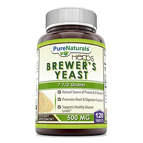 (Pure Naturals Brewer's Yeast Tablets 500 mg -Allergen Free - Supports Heart Health, Glucose Metabolism, Digestive Health (120 Count))