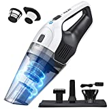 Holife Handheld Vacuum Cleaner, 5.5KPA Powerful Hand Vacuum Cordless Rechargeable 2200mAh Battery, Portable Vacuum Cleaner for Pet Hair Cleaning
