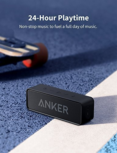 Anker Soundcore Portable Bluetooth Speaker with Loud Stereo Sound, Rich Bass, 24-Hour Playtime, 66 ft Bluetooth Range, Built-In Mic. Perfect Wireless Speaker for iPhone, Samsung and more