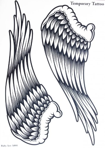 Temporary Tattoos Wings (Spestyle new design hot selling fashionable large Angel wings temporary tattoo sticker for women)