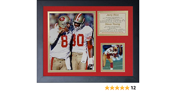 11438U Legends Never Die Joe Montana and Jerry Rice Framed Photo Collage 11 x 14-Inch Model