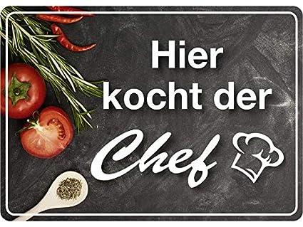 Aquí Hierve la Chef 10 x 15 cm Chapa Cartel de chapa de ...