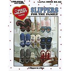 Slippers For The Family - Crochet Patterns
