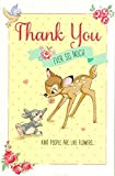 Baby : Carlton Disney's 'Thank You Ever So Much' - Bambi and Thumper Thank You Card - 419050