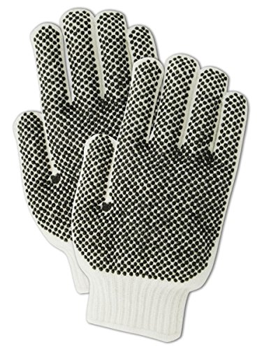Magid 93PRT Knit Master Reversible PVC Dotted Gloves, ()