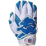 NFL Detroit Lions Youth Receiver Gloves,White,Medium