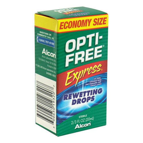Lens Drops Rewetting (Opti-Free Express Rewetting Drops, .2/3-Ounce Bottles (Pack of 3))