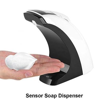 Dispensador de jabón automático, 300 ml automático dispensador de jabón líquido desinfectante ABS soporte automático