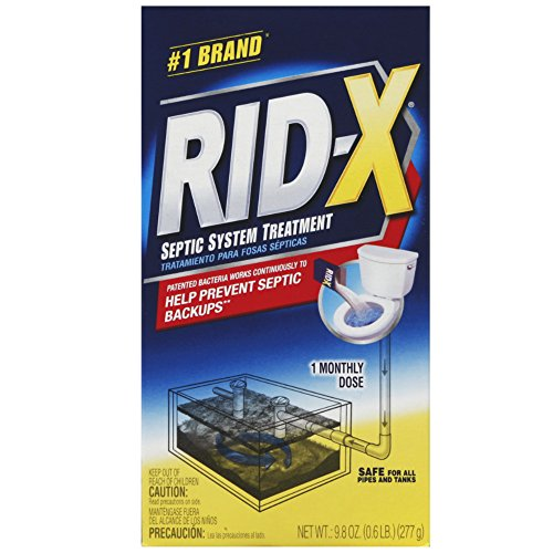 RID-X Septic Treatment, 1 Month Supply Of Powder, 9.8 oz (Pack of 10)