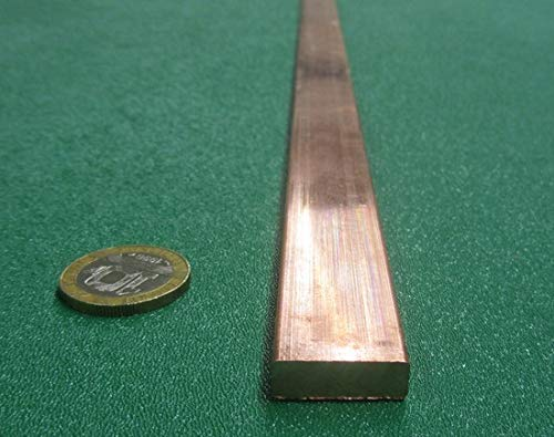 """110 Copper Bar Stock.250"""" Thick x .750"""" Width x 2 Ft. Length, 1 Pc."""