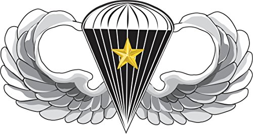 Military Vet Shop US Army Basic Parachutist 5 Combat Jump Wings Vinyl Transfer Window Bumper Sticker Decal 3.8