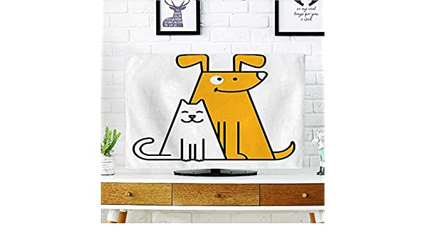 Auraisehome - Lámina de Arte gráfico para Proteger tu televisor, Gato Que mira al ratón, Cazador, Gatito Divertido, Humor, niños, Protege tu TV de 48,26 cm de Ancho x 76,2 cm de