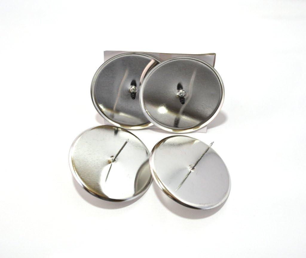 Silber 4 Stück Adventskranzstecker 6//8cm schwarz Kerzenhalter Kerzenpick