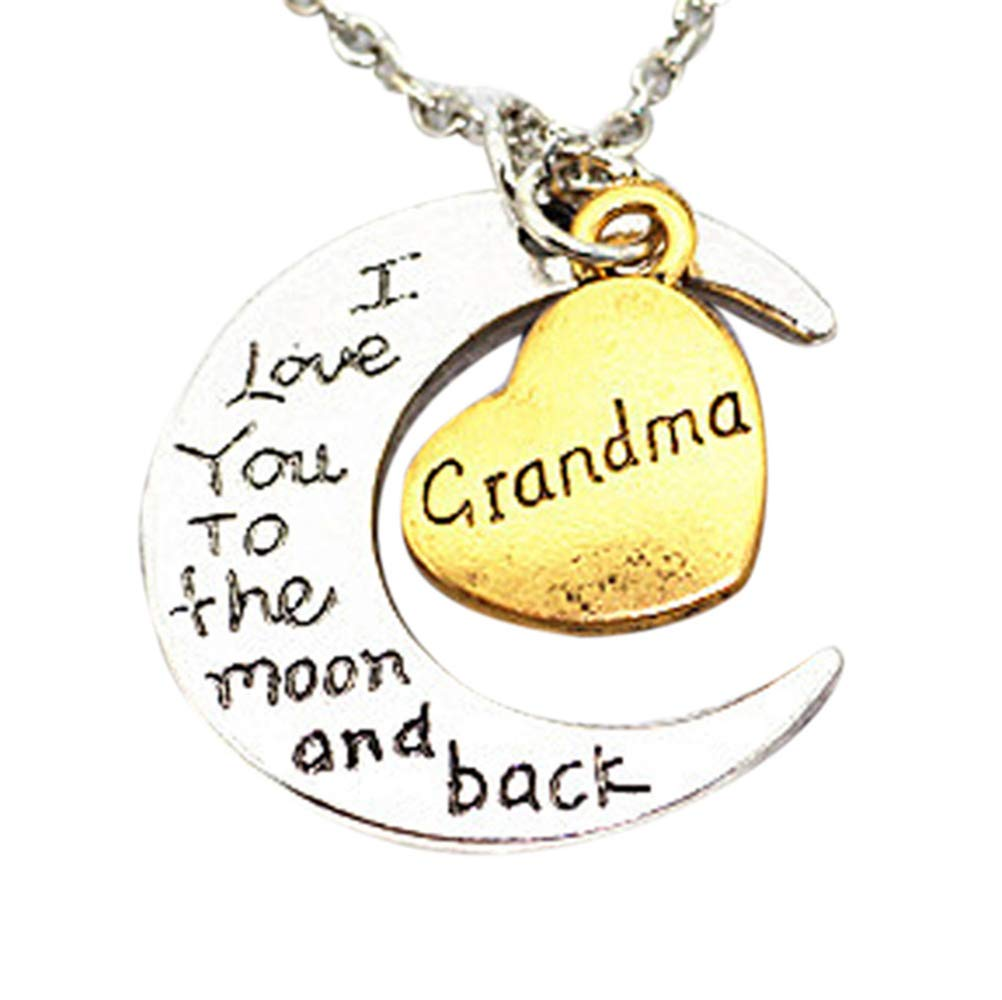 WoCoo Family Necklace,I Love You to The Moon and Back Engraved Brothers and Sisters Pendant Necklace(I) by WoCoo (Image #1)