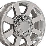 20x8 Wheel Fits Ford Super Duty Trucks - F250 - F350 Style 8 Lug Polished Rim, Hollander 3693