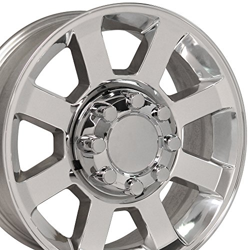 20×8 Wheel Fits Ford Super Duty Trucks – F250 – F350 Style 8 Lug Polished Rim, Hollander 3693