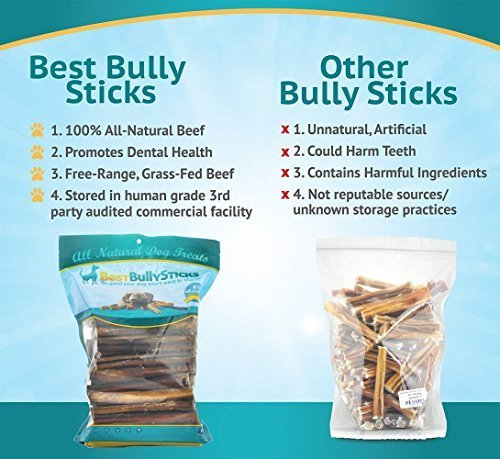 6 inch supreme bully sticks by best bully sticks 25 pack all natural dog treats eco mart. Black Bedroom Furniture Sets. Home Design Ideas