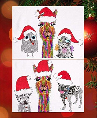 Amazon santas helpers christmas and holiday note cards and santas helpers christmas and holiday note cards and greeting cards 12 pack with white m4hsunfo