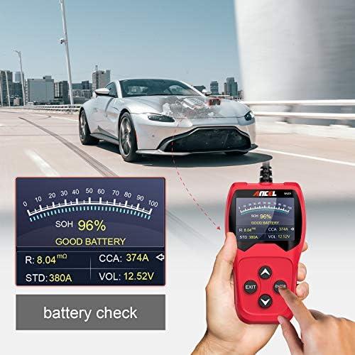 Ancel Ba201 Auto 12v 100 2000 Cca Batterieladetester Kfz Anlasser Kurbelgenerator Ladesystem Digitalanalysator Auto Bad Cell Test Tool Rot Auto