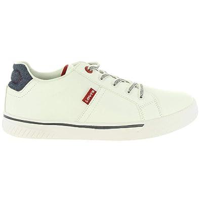 6834047ab2bfc Levi s Chaussures de Sport pour Garçon et Fille et Femme Levis VFUT0021S  Open 0061 White Taille