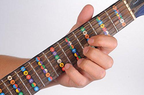 guitar fretboard note decals fingerboard frets map sticker for beginner learner practice fit 6. Black Bedroom Furniture Sets. Home Design Ideas