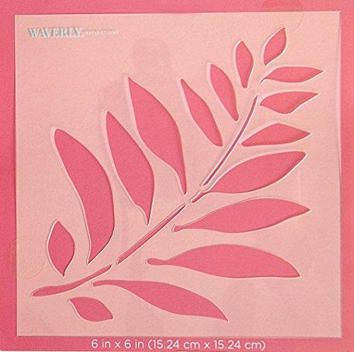 Waverly Inspirations Laser Cut Fern Stencil - 6 x 6