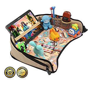 dmoose toddler car seat travel tray 16 x 14 toy organizer tablet holder. Black Bedroom Furniture Sets. Home Design Ideas