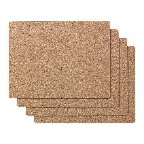 IKEA AVSKILD - Place mat, cork / 4 pack / 4 pack - 42x32 cm