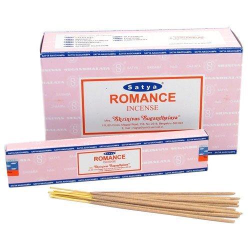 12 Packs of Satya Nag Champa Romance Incense Sticks, 15g