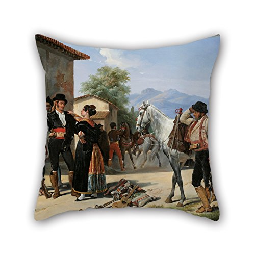 Uloveme Pillow Cases Of Oil Painting Henri Pierre Léon Pharamond Blanchard - The Smugglers,for Sofa,floor,saloon,monther,living Room,birthday 18 X 18 Inches / 45 By 45 Cm(double Sides)