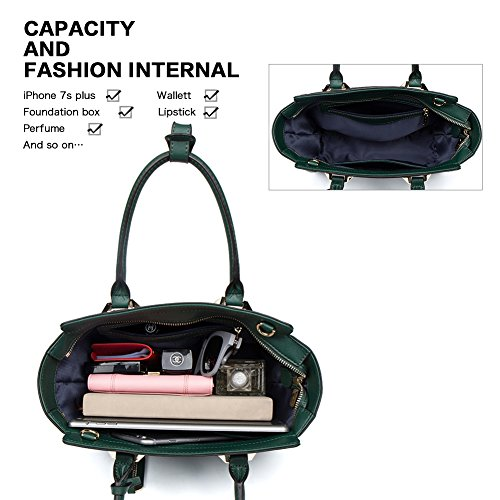 Shoulder Crossbody Top Designer Satchel Handbags green Tote Luxury Leather Bags Trapeze Women Purse FIGESTIN Handle Ladies Genuine nwqU71BOSx