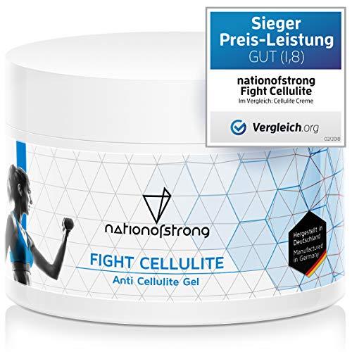 Fight Cellulite - 225ml Anticelulitico reductor - Made in Germany - 1.000e clientes entusiasmadas - reafirmante y cálido - activa la piel para una absorción óptima de los principios activos