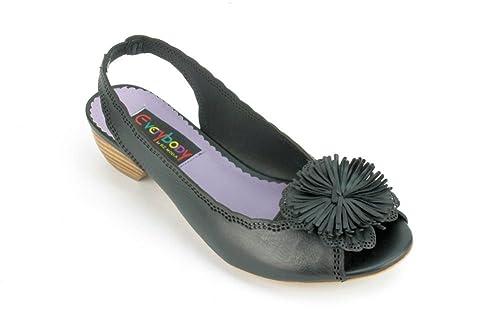 Everybody by BZ Moda Mazzo Women s Black Leather Slingbacks EU 36   Amazon.ca  Shoes   Handbags f0b299881ca5