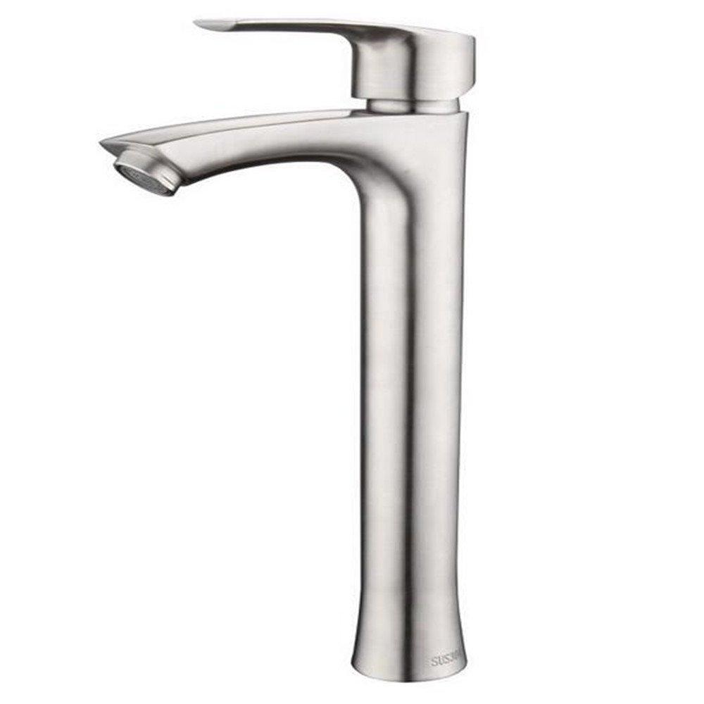 Moderne Wasserhahn Edelstahl Waschbecken Wasserhahn Heiß Und Kalt Unverbleit Drahtziehen über Zähler Becken Angehoben Wasserhahn