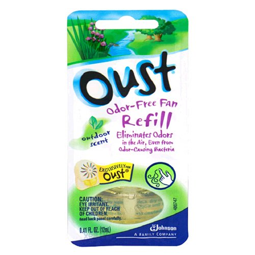 Oust Odor-Free Fan Refill, Outdoor Scent, 1 refill (Oust Air Fresheners)