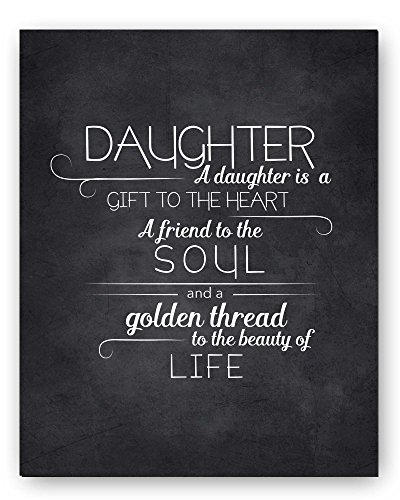 Daughter Quote Typography Chalkboard Perfect