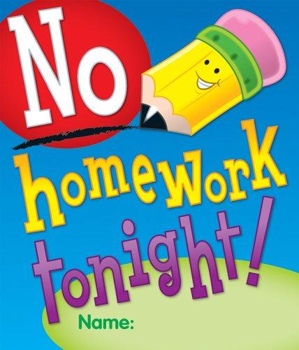 Carson Dellosa No Homework Tonight Certificates (101034) -  Carson-Dellosa Publishing