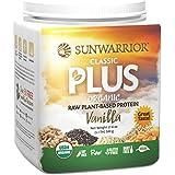Sunwarrior - Classic Plus, Raw Organic Plant Based Protein, Vanilla, 20 Servings (1.1 lbs)