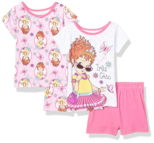 Disney Girls' Toddler Fancy Nancy 4-Piece Cotton Set, Chic Pink, 3T -