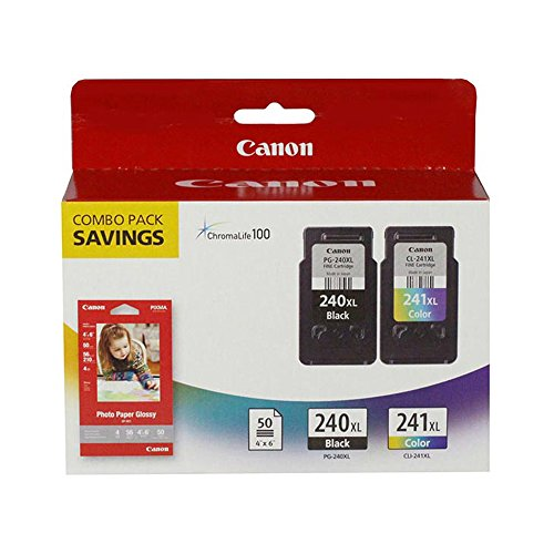 Canon PIXMA MX512 (PG-240XL/CL-241XL) High Yield Black and Color Ink Cartridge Combo Pack (300 Yield)