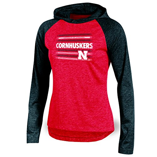 NCAA Nebraska Cornhuskers Adult Women Long Sleeve Pullover Colo, Medium, Red Heather